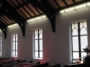 聖堂内ステンドグラス